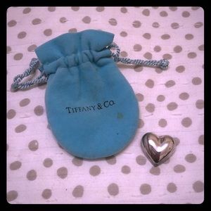 Vintage Tiffany & Co Sterling Silver Heart Brooch